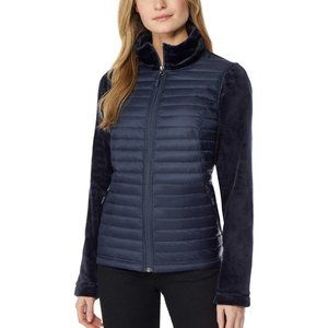 32 Degrees Women's Ladies'Mixed Media Plush Jacket